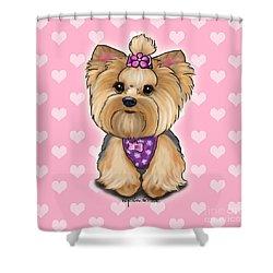 Fofa Hearts Shower Curtain by Catia Cho