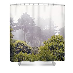 Shower Curtain featuring the photograph Fog At Lands End by Cindy Garber Iverson