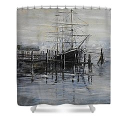 Fog Bound At Tillamok Shower Curtain