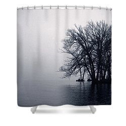 Fog Day Afternoon Shower Curtain