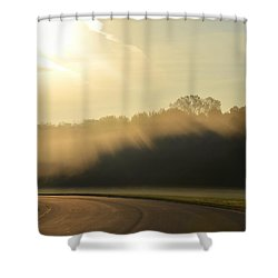 Shower Curtain featuring the photograph Fog Filled Morning by Nikki McInnes