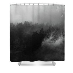 Fog Forest Shower Curtain