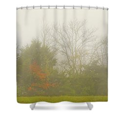 Fog In Autumn Shower Curtain