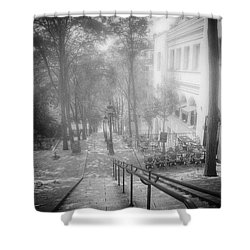 Shower Curtain featuring the photograph Fog In Montmartre by John Rivera