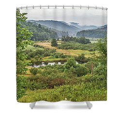 Shower Curtain featuring the photograph Fog In The Adirondacks by Sue Smith