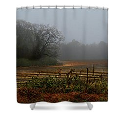 Fog In The Field Shower Curtain by Laura Ragland