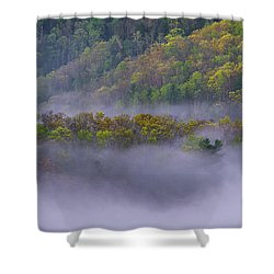 Fog In The Hills Shower Curtain