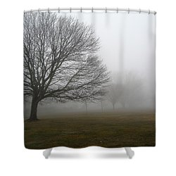 Fog Shower Curtain by John Scates
