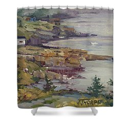 Fog Lifting Shower Curtain by Jane Thorpe