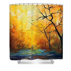 Fog New Shower Curtain by Leonid Afremov