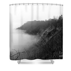 Fog On Bluffs Shower Curtain