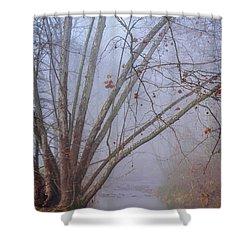 Fog On Buffalo Creek 1 Shower Curtain