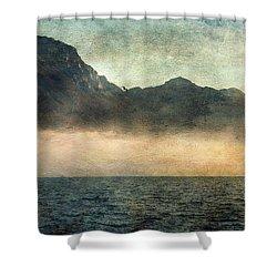Fog On Garda Lake Shower Curtain