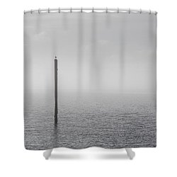 Fog On The Cape Fear River On Christmas Day 2015 Shower Curtain