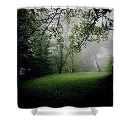 Fog On The Green Shower Curtain