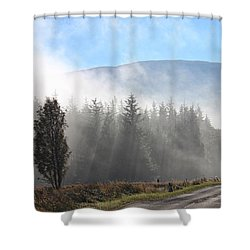 Fog On The Road To Fintry Shower Curtain