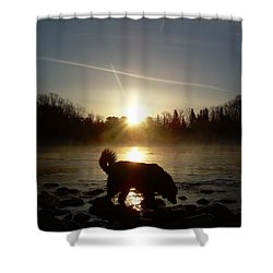 Shower Curtain featuring the photograph Fog Over Mississippi River by Kent Lorentzen