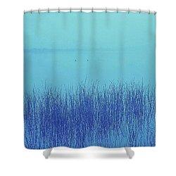Fog Reeds Shower Curtain