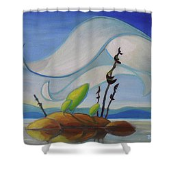 Fog Rising Shower Curtain
