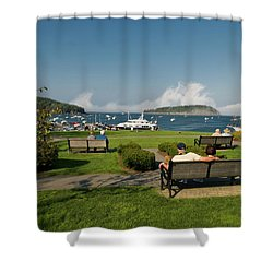 Fog Show Over The Porcupine Islands Shower Curtain