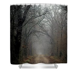 Fog Shrouded Lane  7861 Dp_2 Shower Curtain