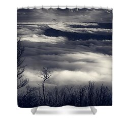 Fog Wave Shower Curtain