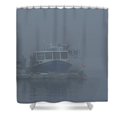 Fogged In At Owls Head Shower Curtain