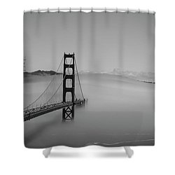 Shower Curtain featuring the photograph Fogging The Bridge by David Bearden