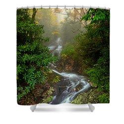 Foggy Autumn Cascades Shower Curtain