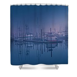 Foggy Bay Front Shower Curtain