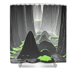Foggy Canyon Walls Shower Curtain