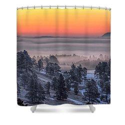 Foggy Dawn Shower Curtain