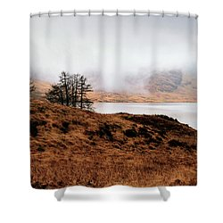 Foggy Day At Loch Arklet Shower Curtain