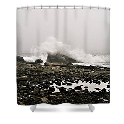 Foggy Day At The Coast Shower Curtain