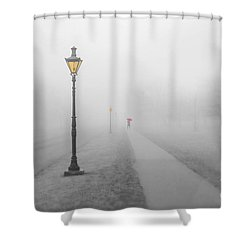 Foggy Day In France Shower Curtain by Jim  Hatch