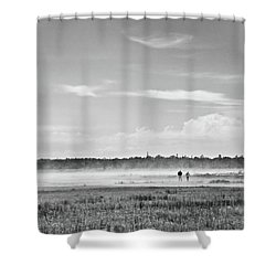 Foggy Day On A Marsh Shower Curtain