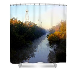 Foggy Fall Morning On The Sabine River Shower Curtain