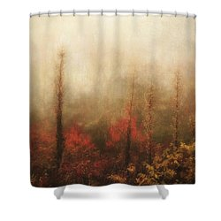 Foggy Fall On The Parkway Shower Curtain