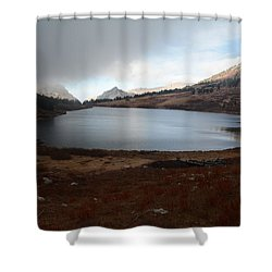 Foggy Favre Lake Shower Curtain