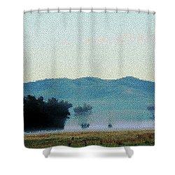 Foggy Field Shower Curtain