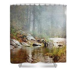 Foggy Fishin Hole Shower Curtain