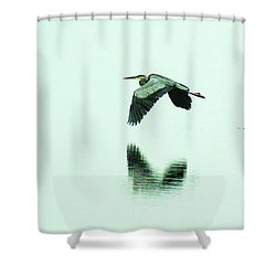 Foggy Flight, Low And Blind Shower Curtain