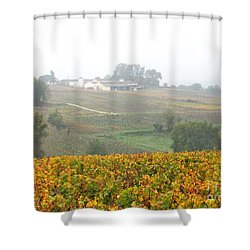 Foggy French Vineyard Shower Curtain
