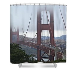 Foggy Golden Gate Shower Curtain
