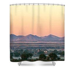 Foggy Harlem Bottom Shower Curtain by Todd Klassy