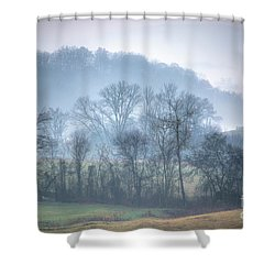 Foggy Hills Shower Curtain