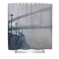 Foggy Hoeg Shower Curtain
