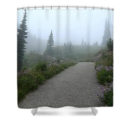 Shower Curtain featuring the photograph Foggy In Paradise 2 by Lynn Hopwood