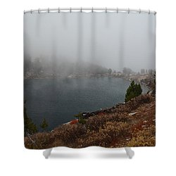Foggy Liberty Lake Shower Curtain