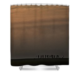 Shower Curtain featuring the photograph Foggy Moravian Morning - Czech Republic by Stuart Litoff
